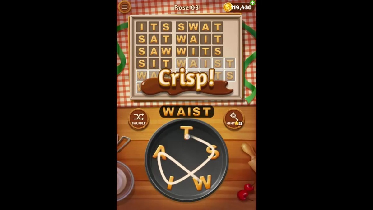 Word Cookies Rose Pack Level 3 Answers