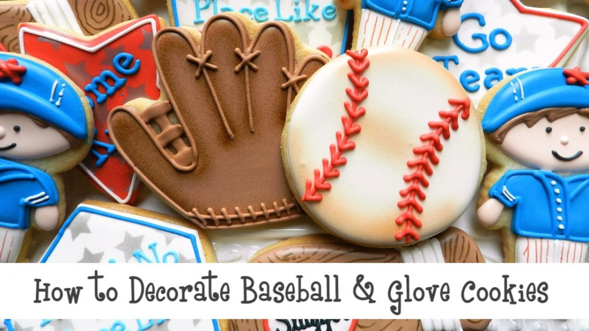 How To Decorate Baseball & Glove Cookies