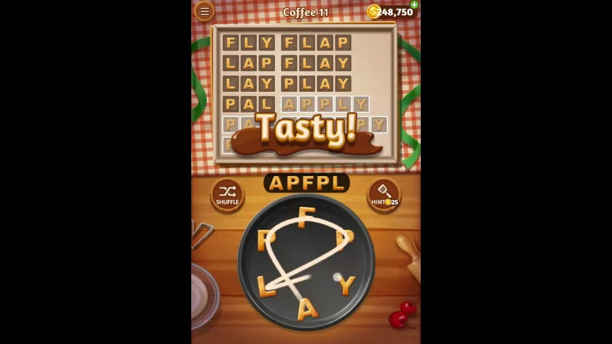 Word Cookies Coffee Pack Level 11 Answers