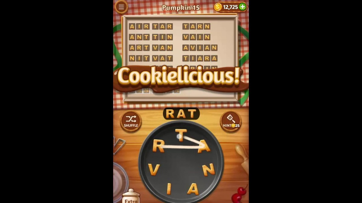 Word Cookies Pumpkin Pack Level 15 Answers