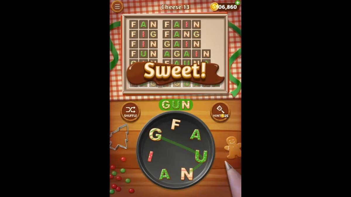 Word Cookies Cheese Pack Level 13 Answers
