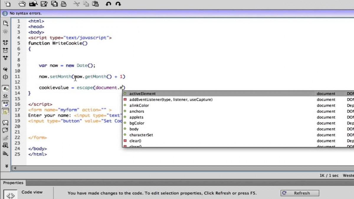Javascript Tutorial 12