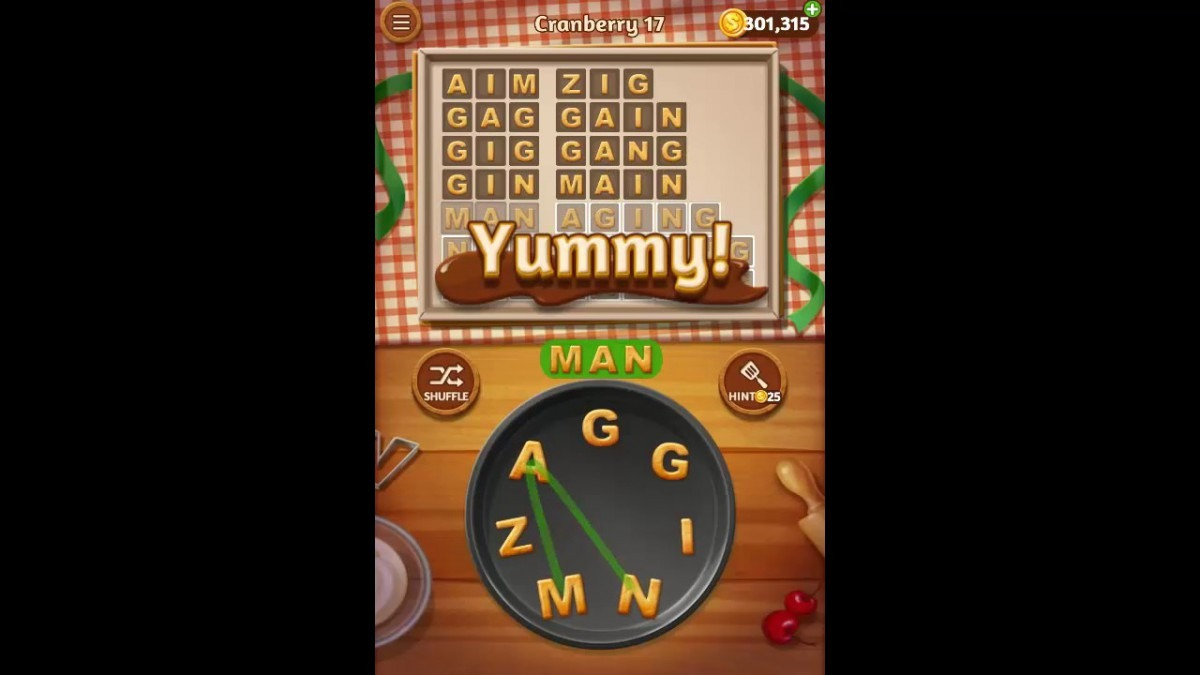 Word Cookies Cranberry Pack Level 17 Answers