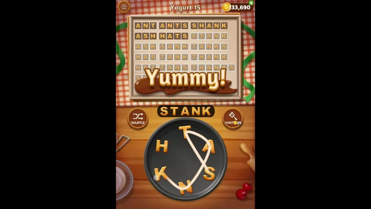 Word Cookies Yogurt Pack Level 15 Answers