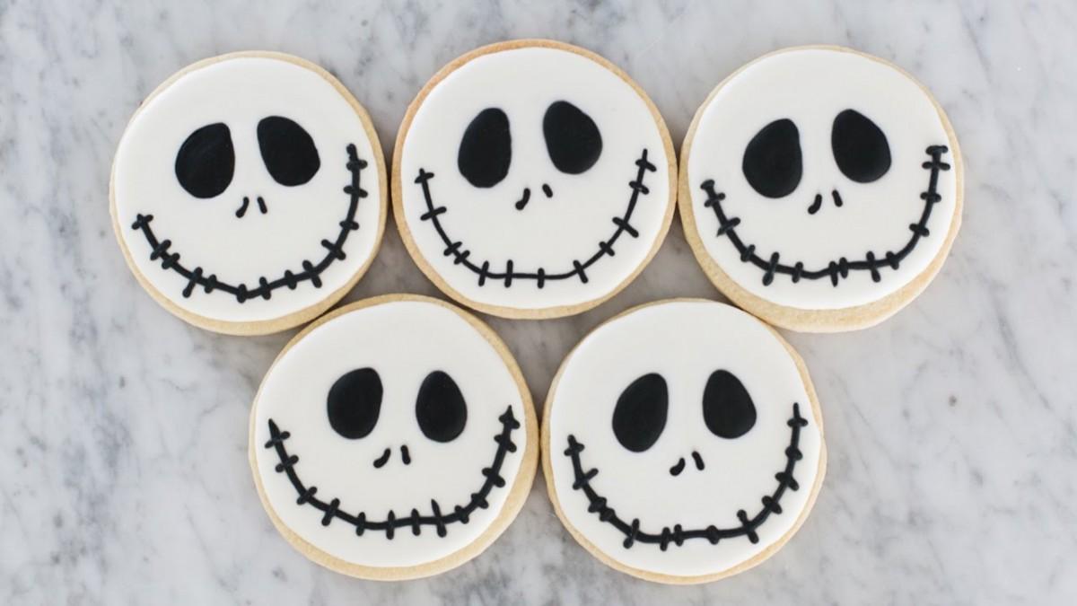 The Nightmare Before Christmas Jack Skellington Cookies Tutorial
