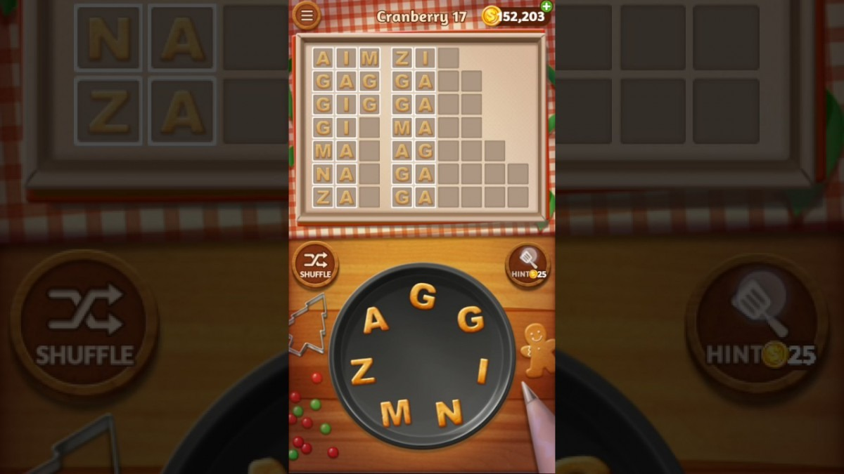 Word Cookies Cranberry Level 17 Celebrity Chef Solved