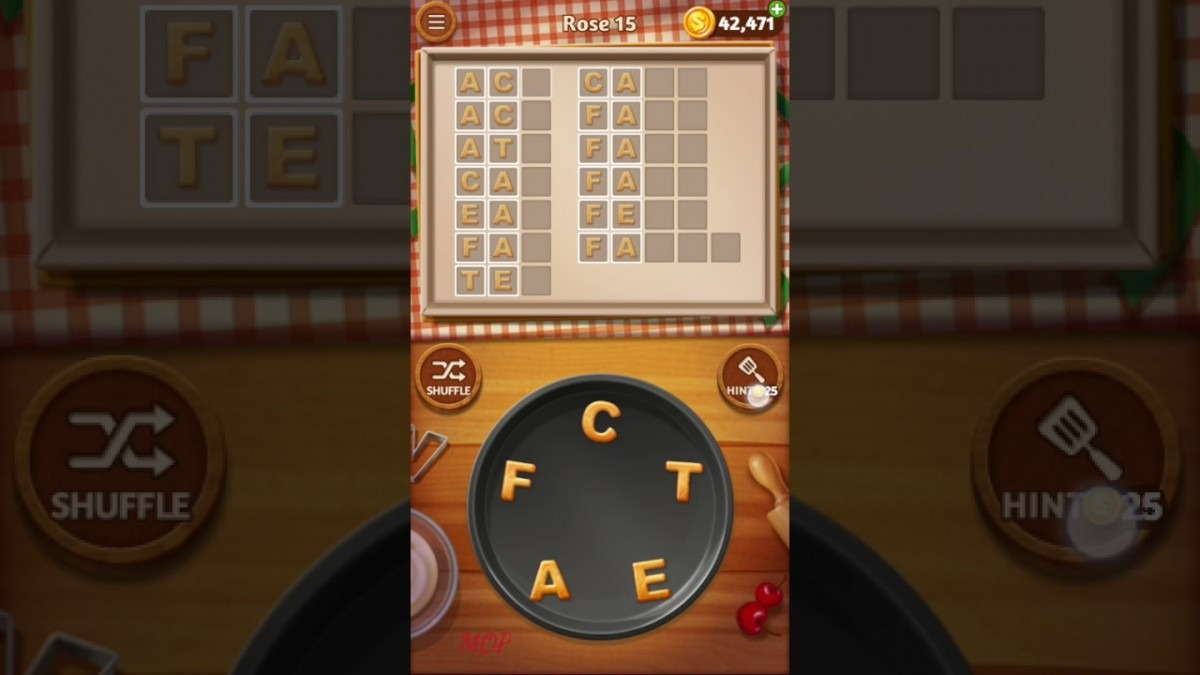 Word Cookies Rose Level 15 Talented Chef Solved