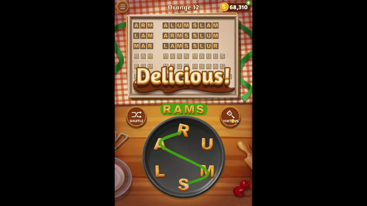 Word Cookies Orange Pack Level 12 Answers
