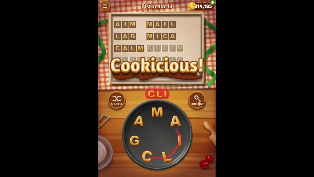 Word Cookies Pistachio Pack Level 13 Answers