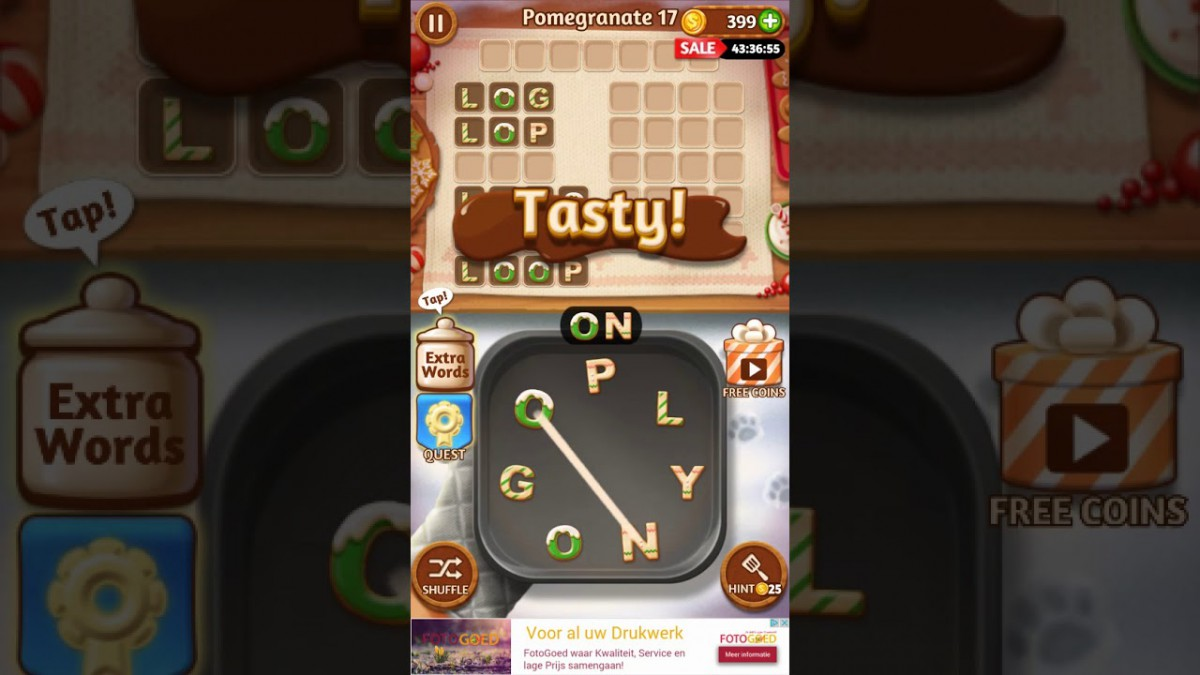 Word Cookies Star Chef Pomegranate Level 17