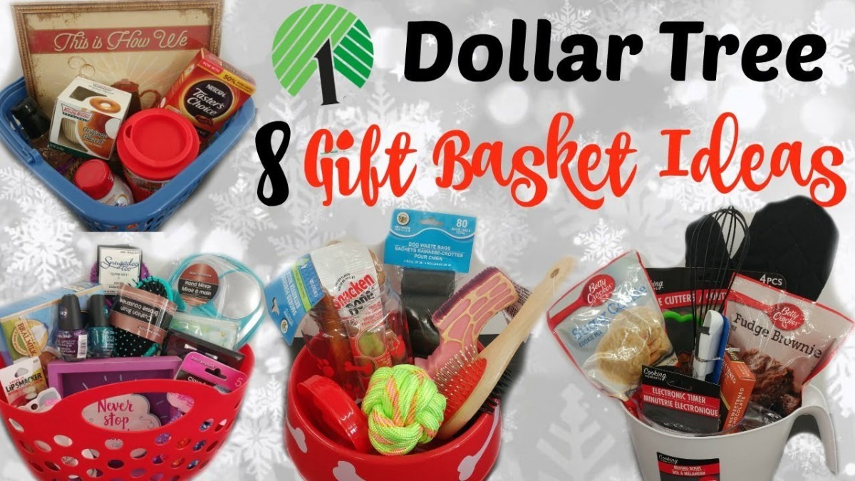 8 Dollar Tree Gift Baskets  Quick & Easy