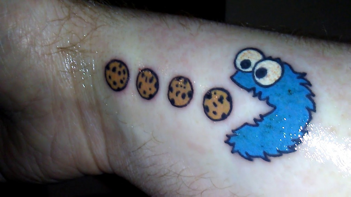 My 1st Tattoo  Cookie Monster Pac Man