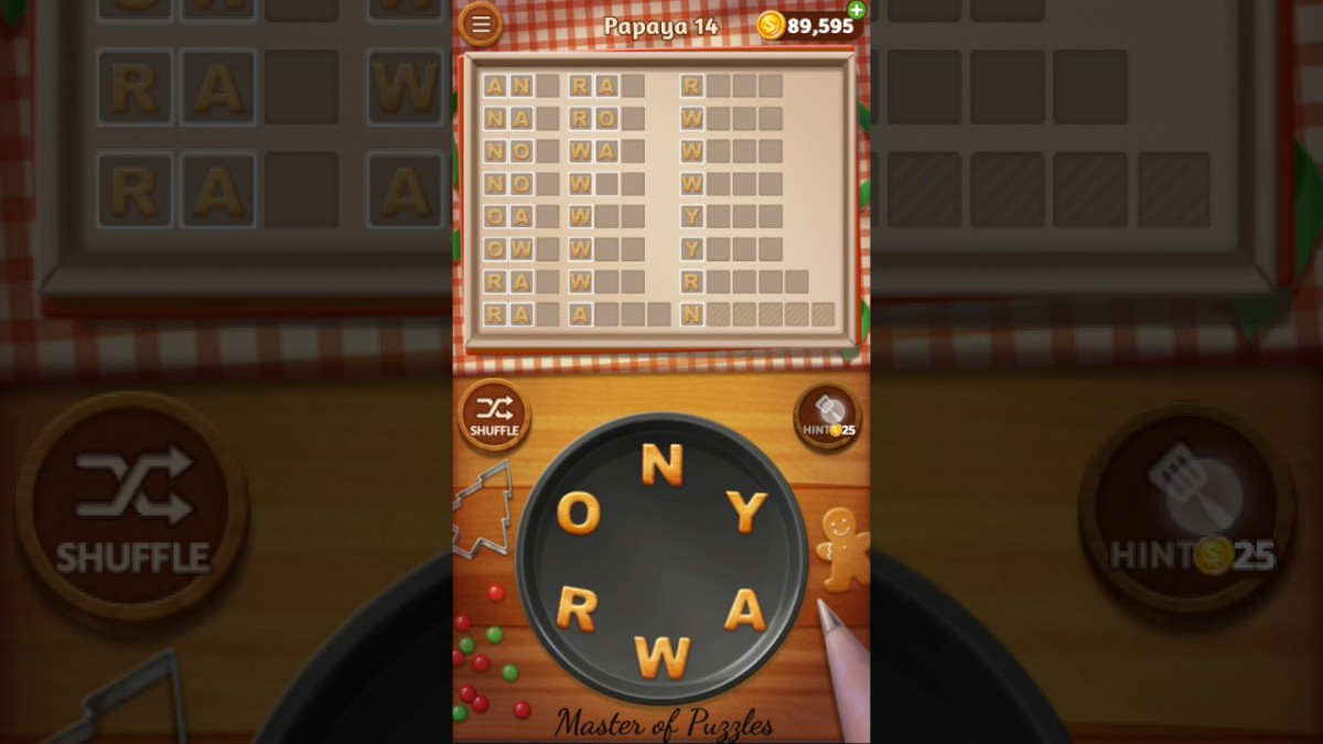 Word Cookies Papaya Level 14 Star Chef Solved
