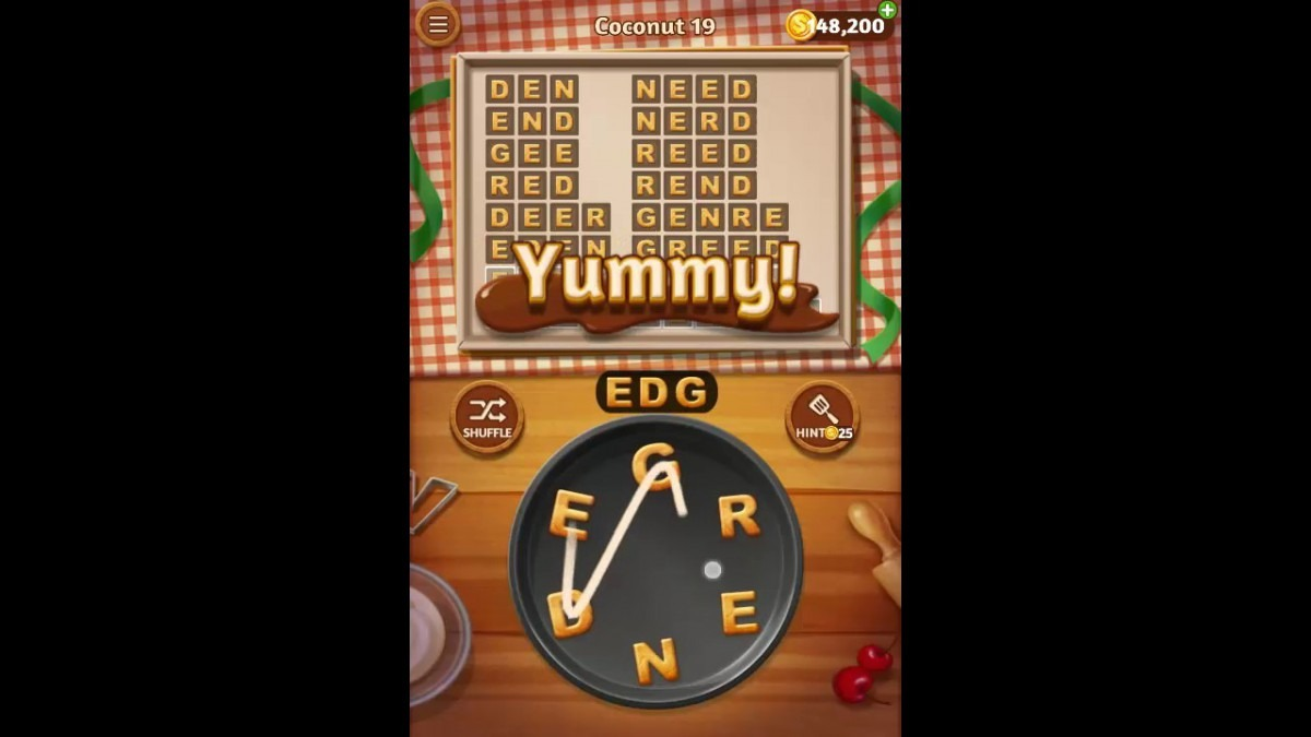 Word Cookies Coconut Pack Level 19 Answers