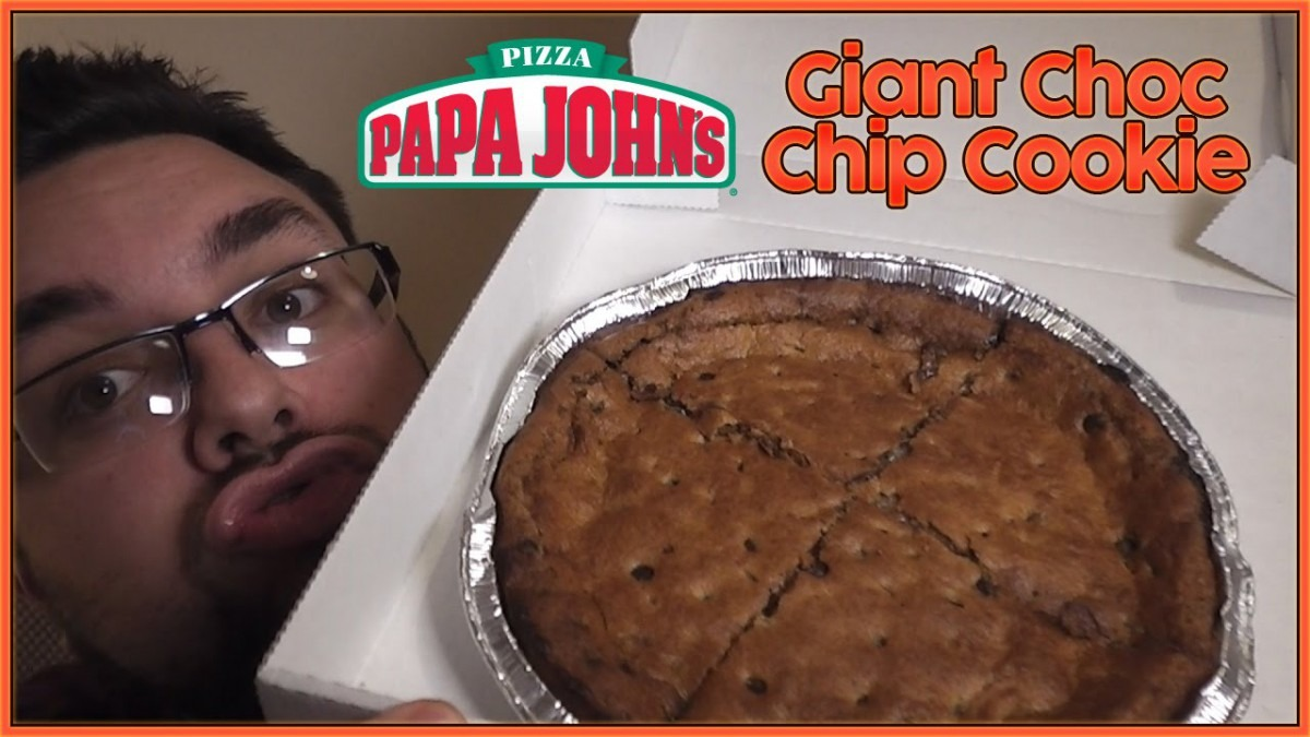 Papa John's Giant Choc Chip Cookie Review