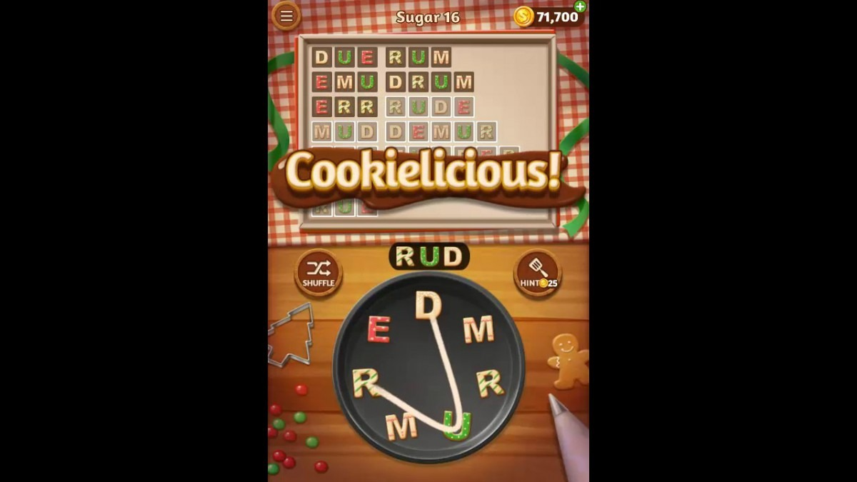 Word Cookies Sugar Pack Level 16 Answers