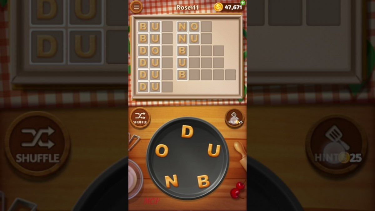 Word Cookies Rose Level 11 Talented Chef Solved