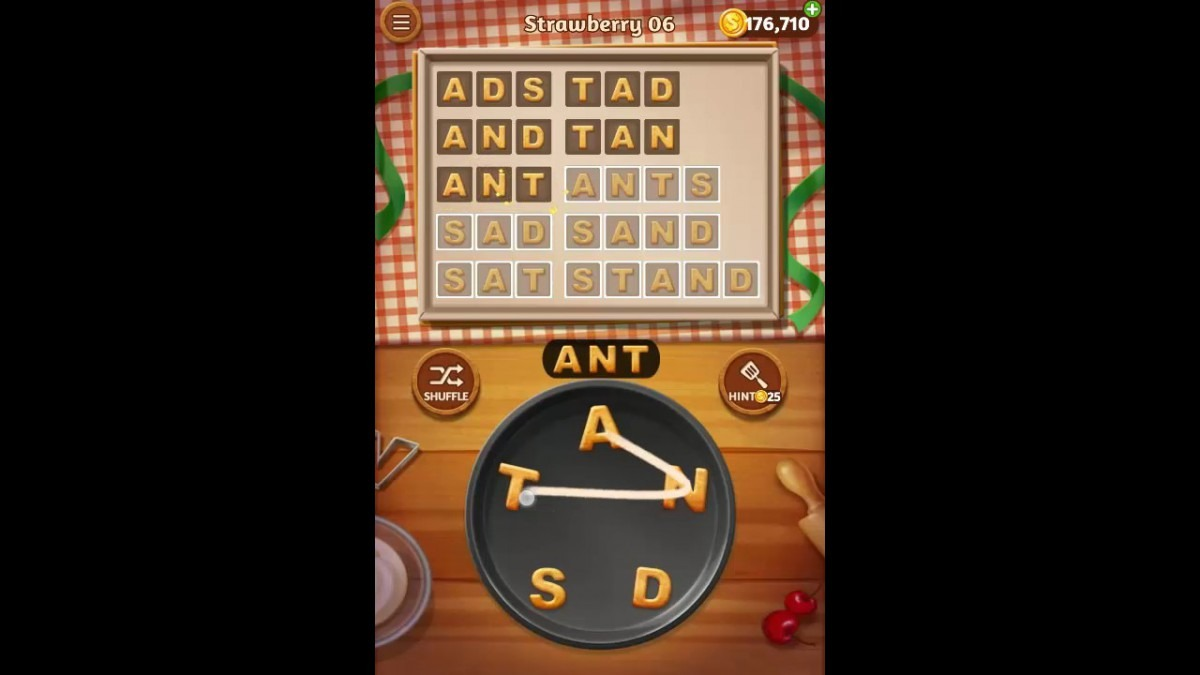 Word Cookies Strawberry Pack Level 6 Answers