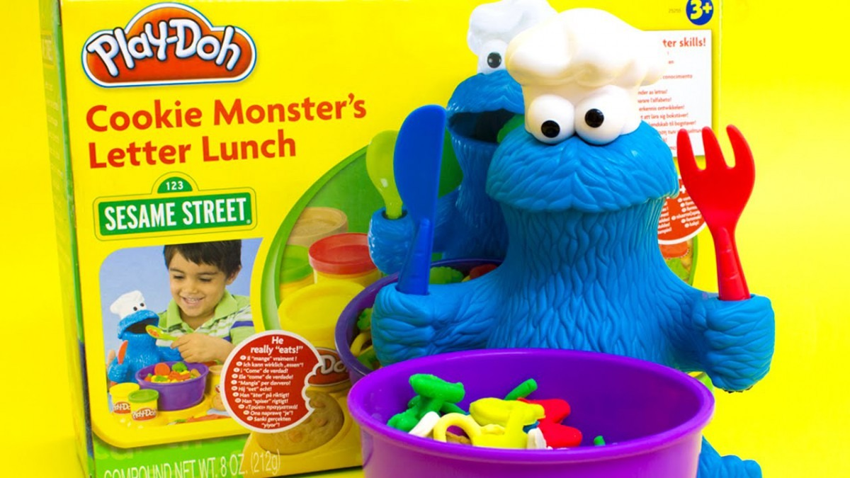 Play Doh Cookie Monster Letter Lunch Mold Cookies Sesame Street