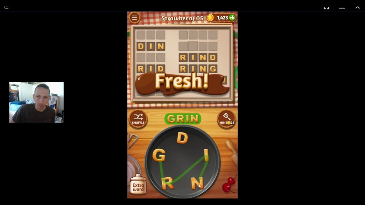 Word Cookies, Talented Chef, Strawberry (updated) Level 5 Solved