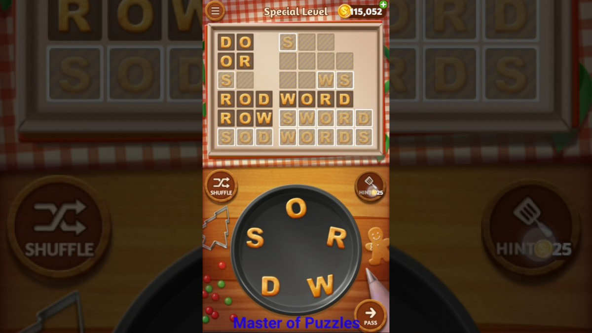 Word Cookies New Ginger Special Level Novice Chef Solved