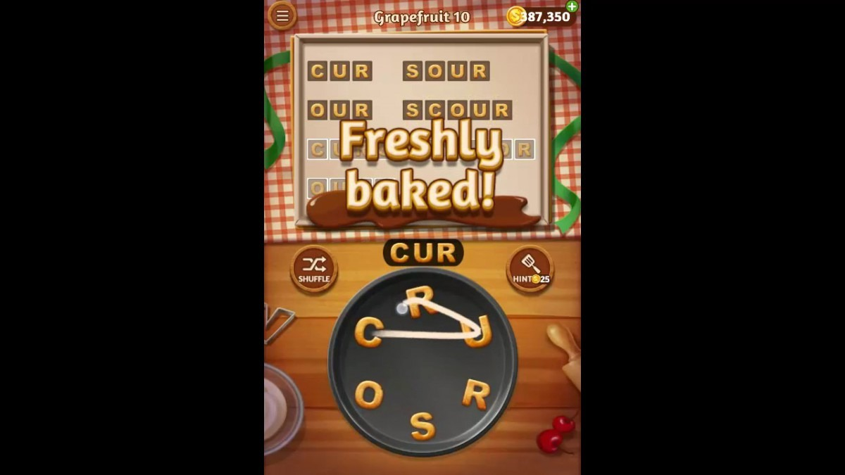Word Cookies Grapefruit Pack Level 10 Answers