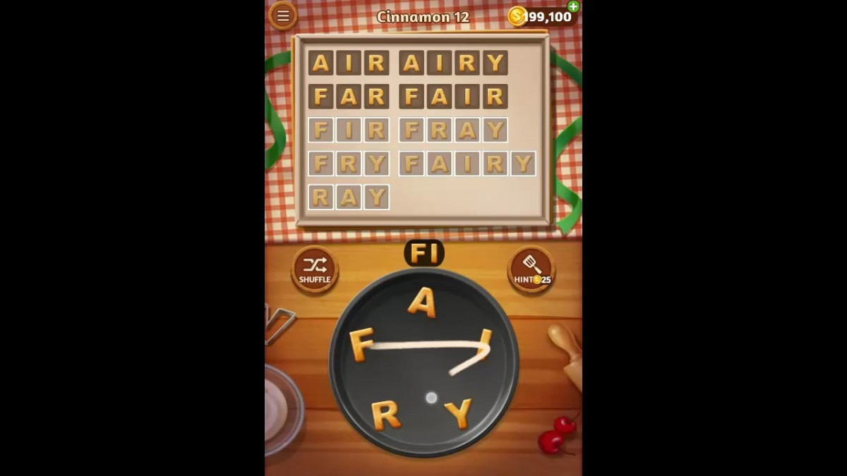 Word Cookies Cinnamon Pack Level 12 Answers
