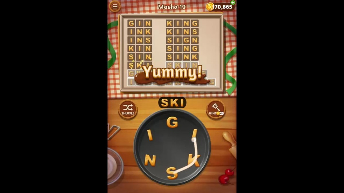 Word Cookies Mocha Pack Level 19 Answers