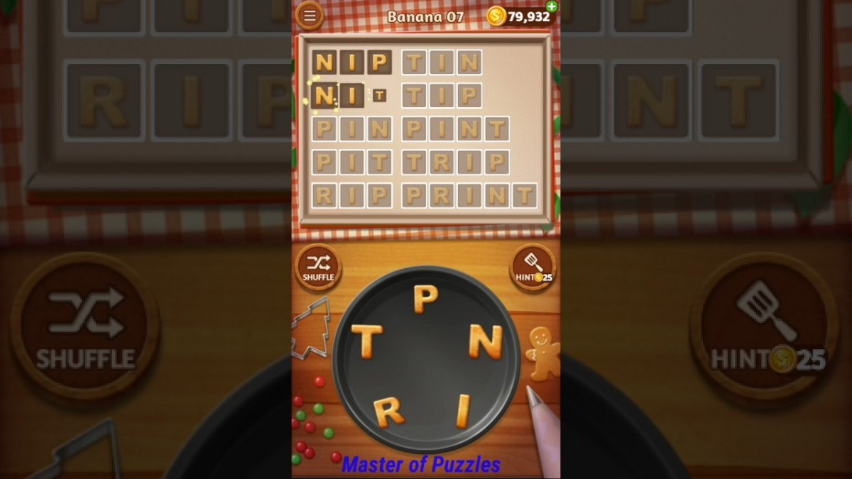 Word Cookies New Banana Level 7 Novice Chef Solved