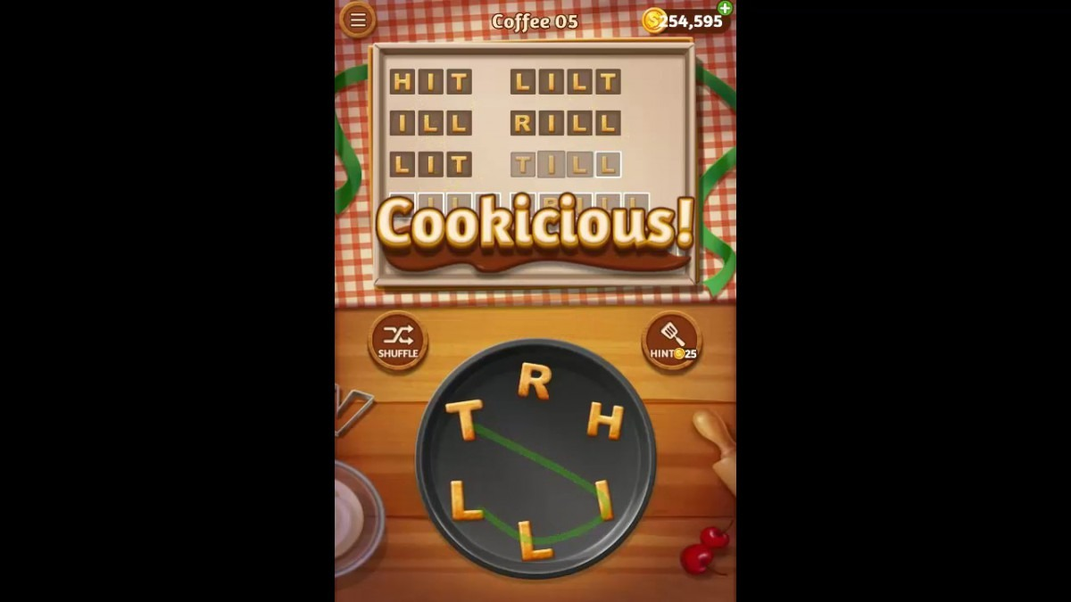 Word Cookies Coffee Pack Level 5 Answers