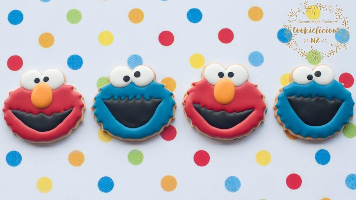 How To Make Sesame Street Cookies ~ Elmo & Cookie Monster Tutorial