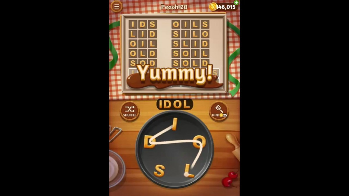Word Cookies Peach Pack Level 20 Answers
