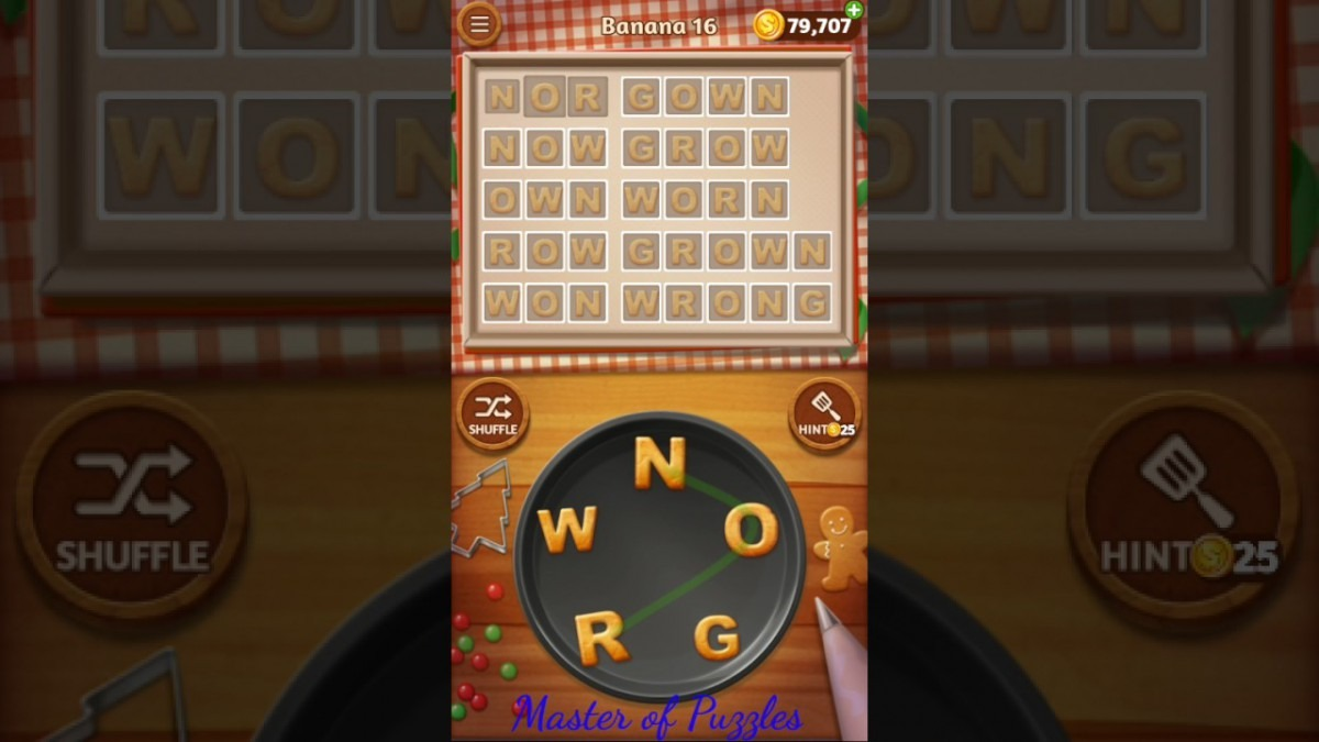 Word Cookies New Banana Level 16 Novice Chef Solved