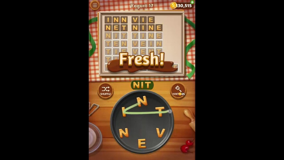 Word Cookies Yogurt Pack Level 17 Answers