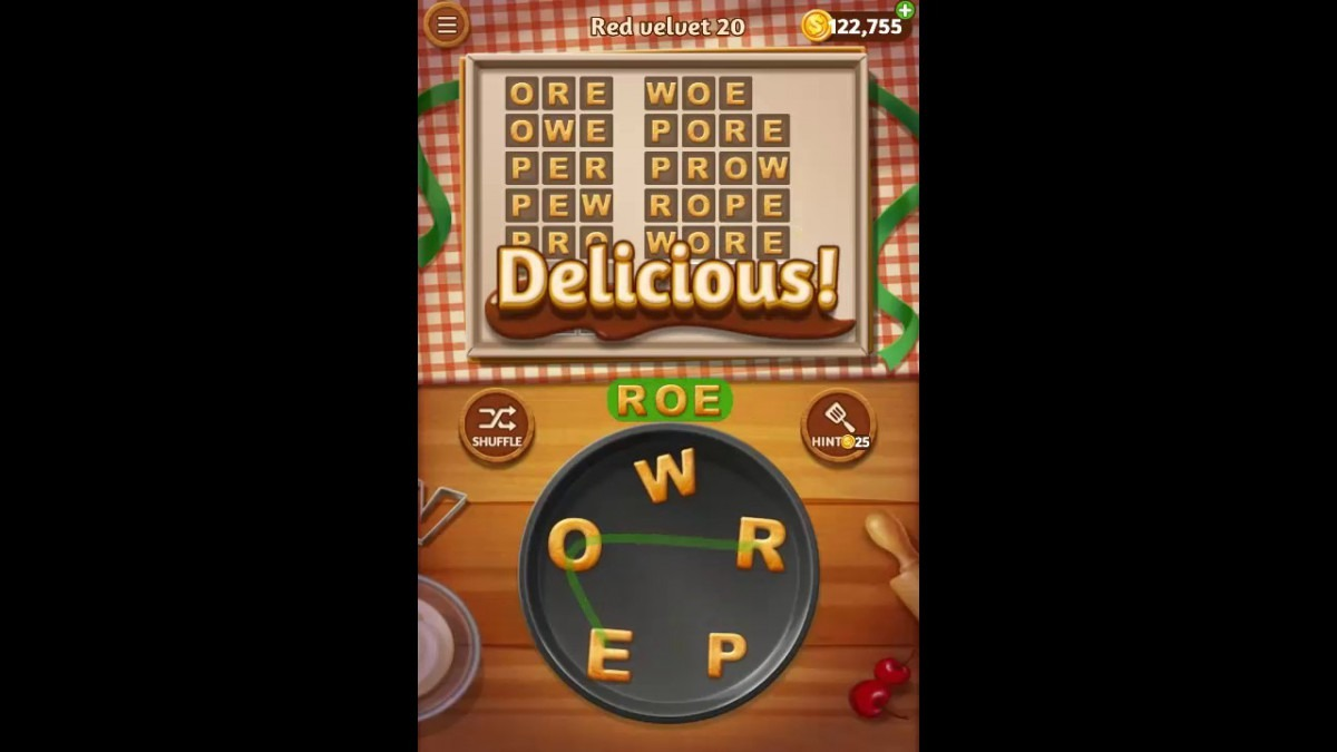 Word Cookies Red Velvet Pack Level 20 Answers