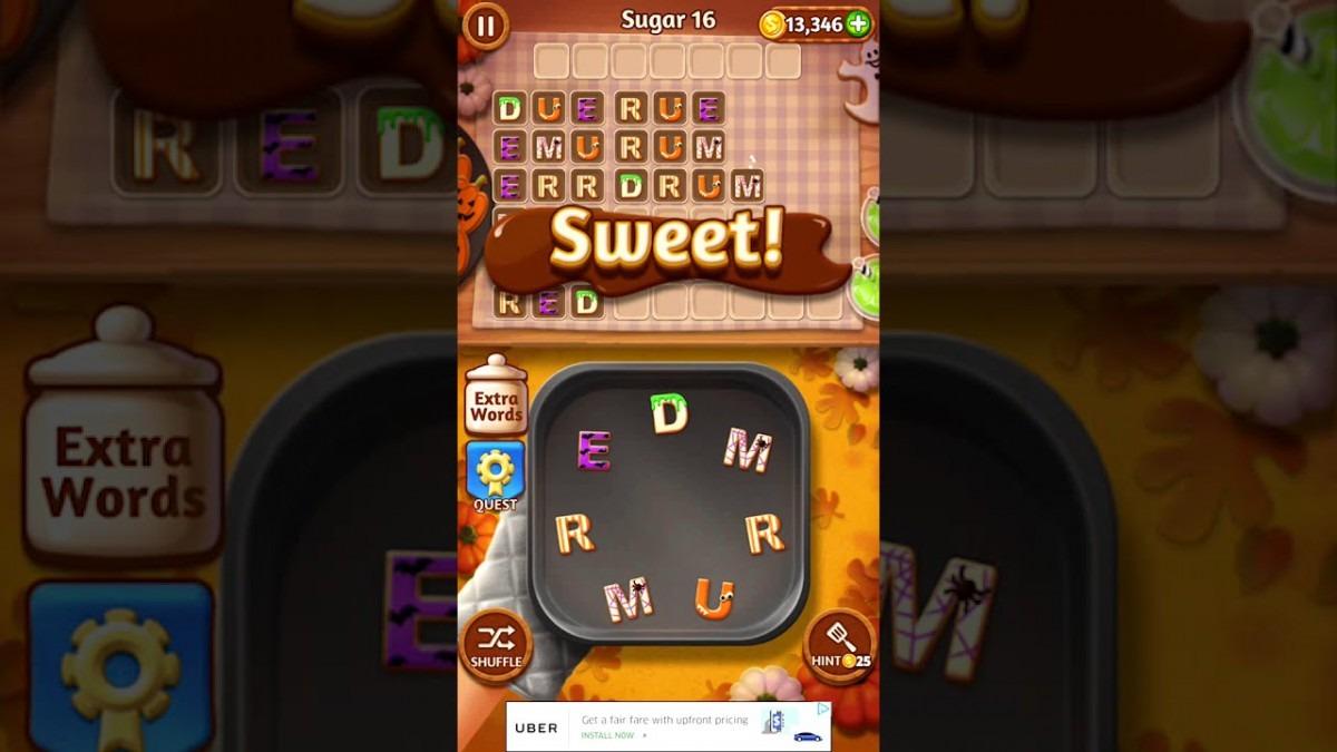Word Cookies Sugar 16