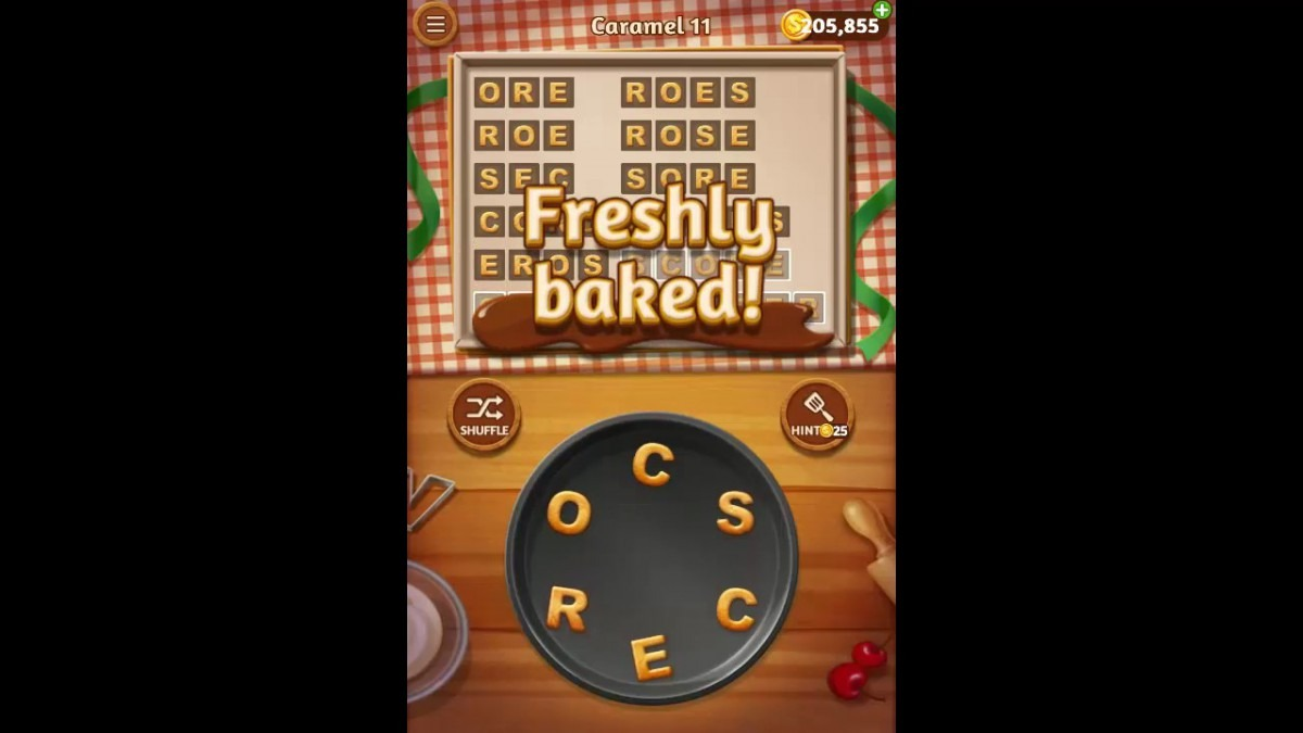 Word Cookies Caramel Pack Level 11 Answers