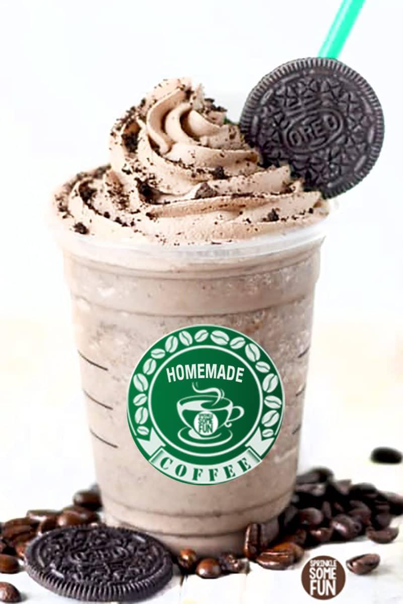 Mocha Cookie Frozen Coffee ⋆ Sprinkle Some Fun
