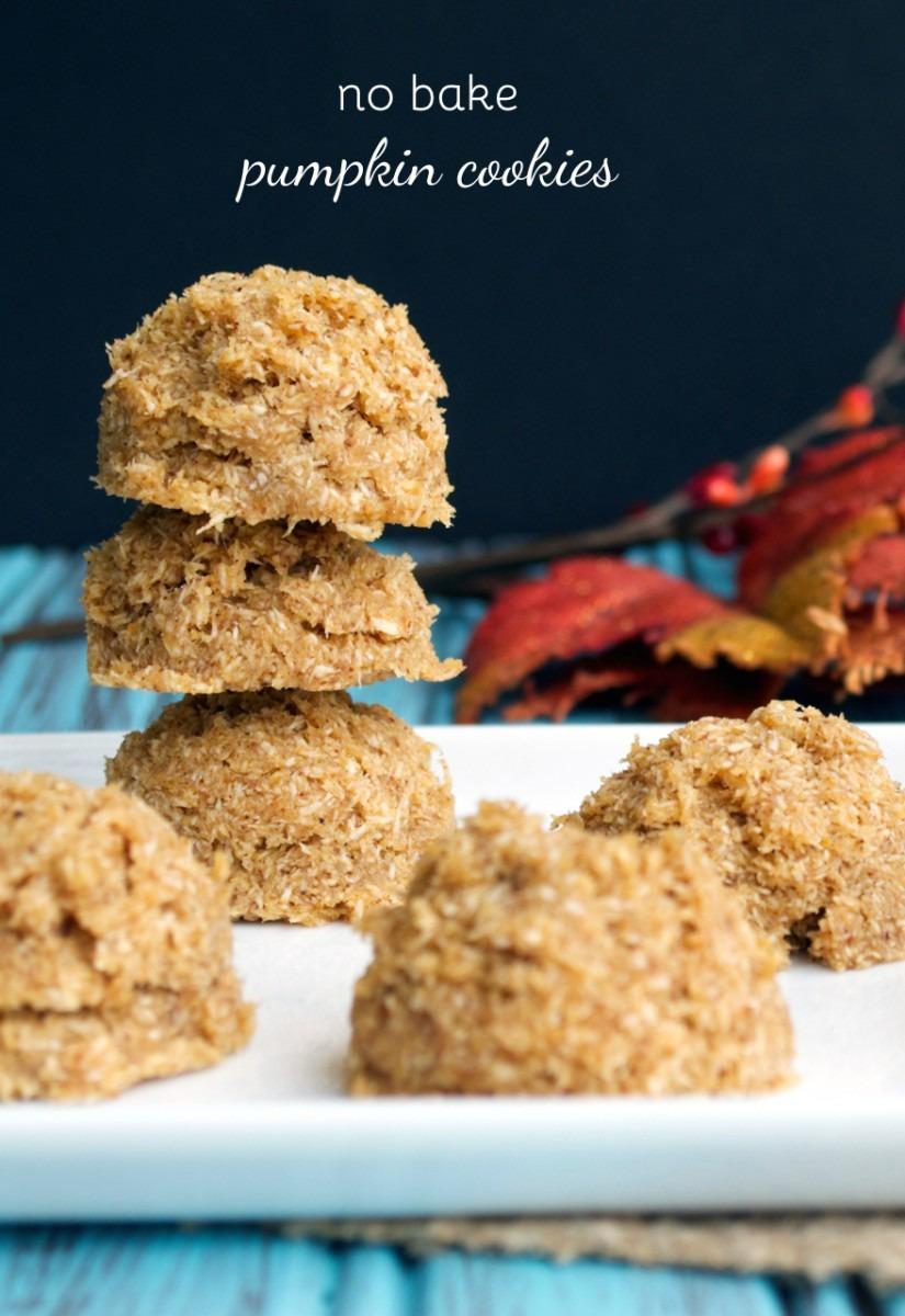 No Bake Pumpkin Cookies