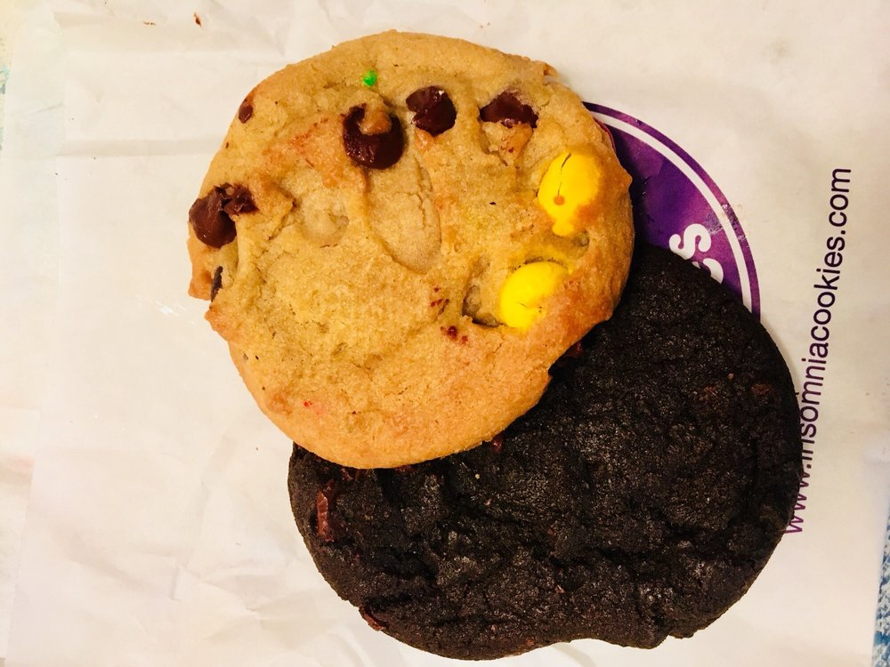 M&m And Double Chocolate Chip Cookie