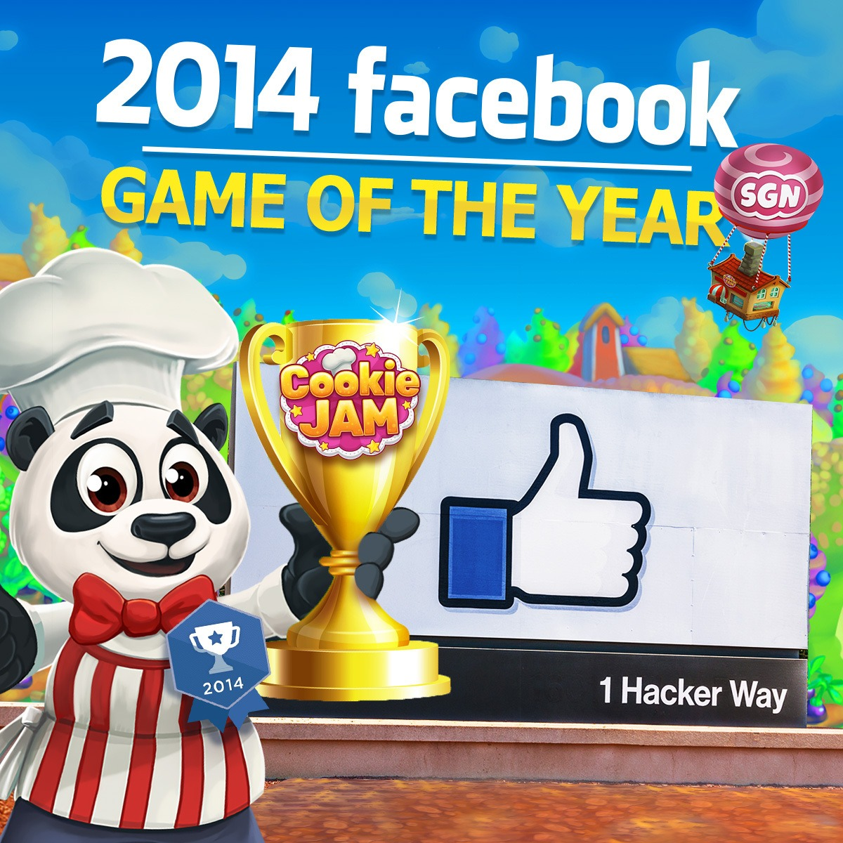 """Sgn's Cookie Jam Wins Facebook's 2014 """"game Of The Year"""" Award"""