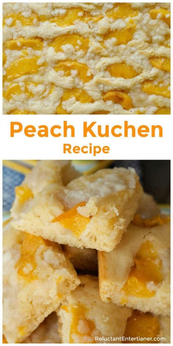 Moist Peach Kuchen Recipe