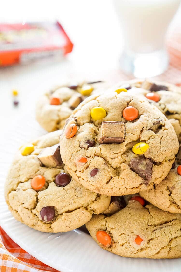 Overloaded Reese's Peanut Butter Pudding Cookies