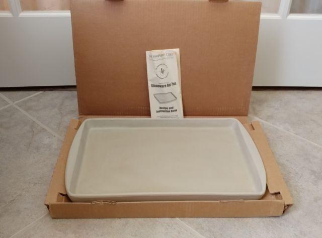 Pampered Chef Stoneware 11x17 Large Bar Pan Cookie Sheet