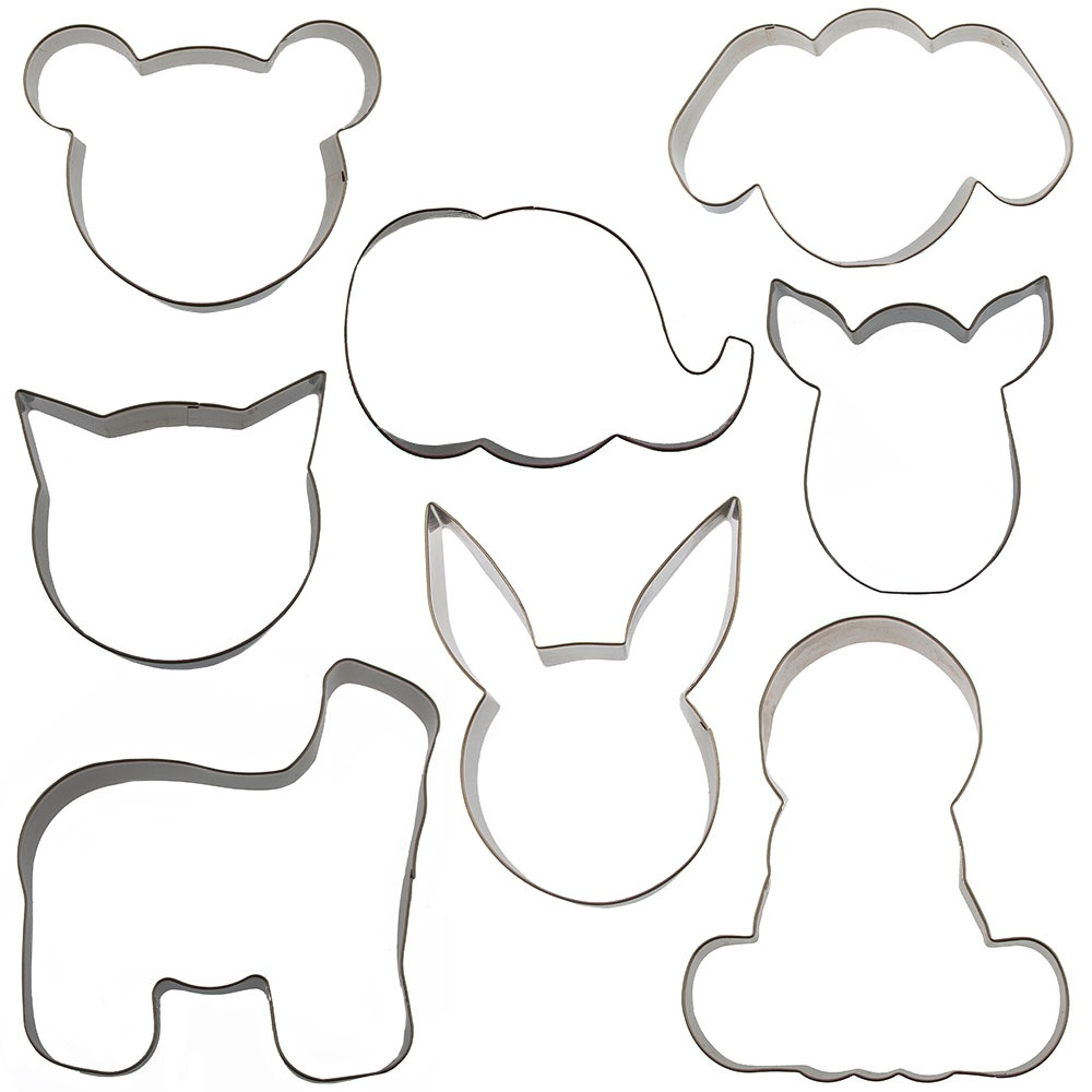 Mix And Match Animal Cookie Cutter Set By Autumn Carpenter