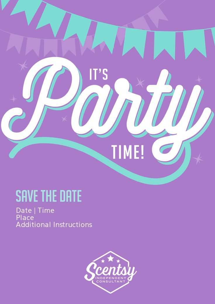 Scentsy Part Spectacular Scentsy Party Invitation Templates