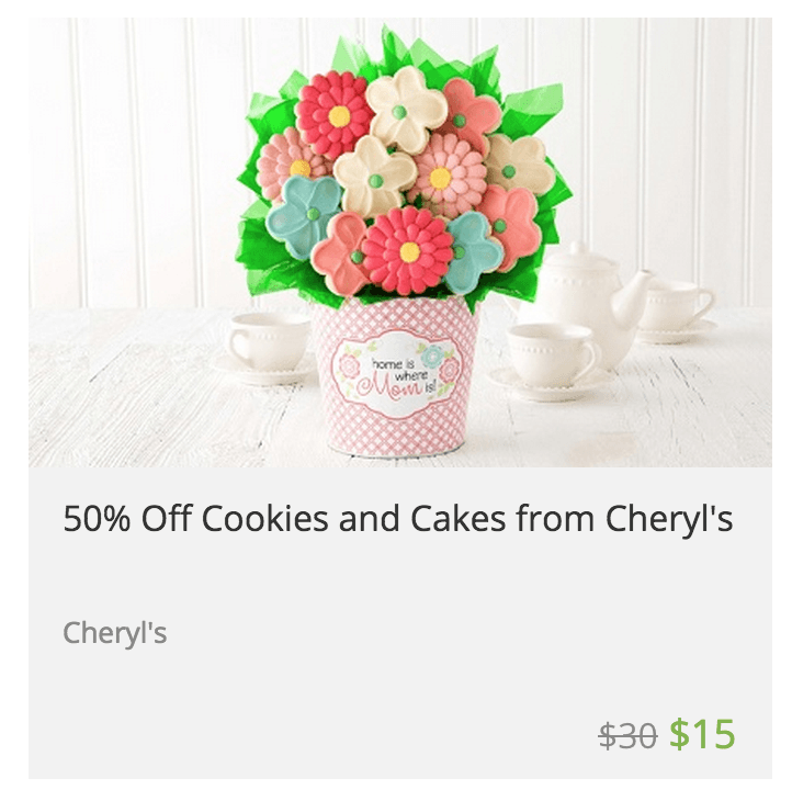 Cheryl's Cookies Mother's Day Cookie Card With $5 Gift Card