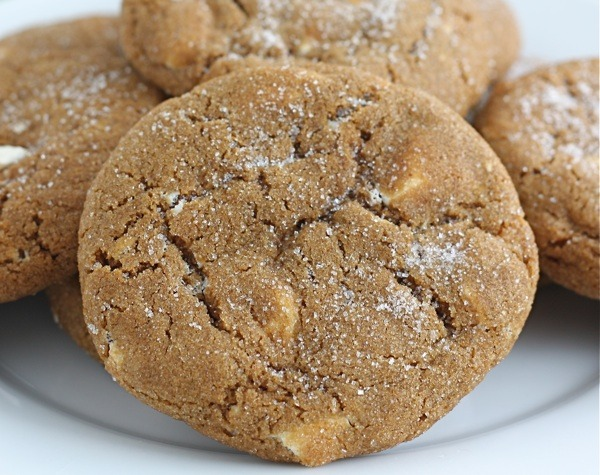 Soft Gingersnap Cookies With White Chocolate Chunks Recipe — Dishmaps