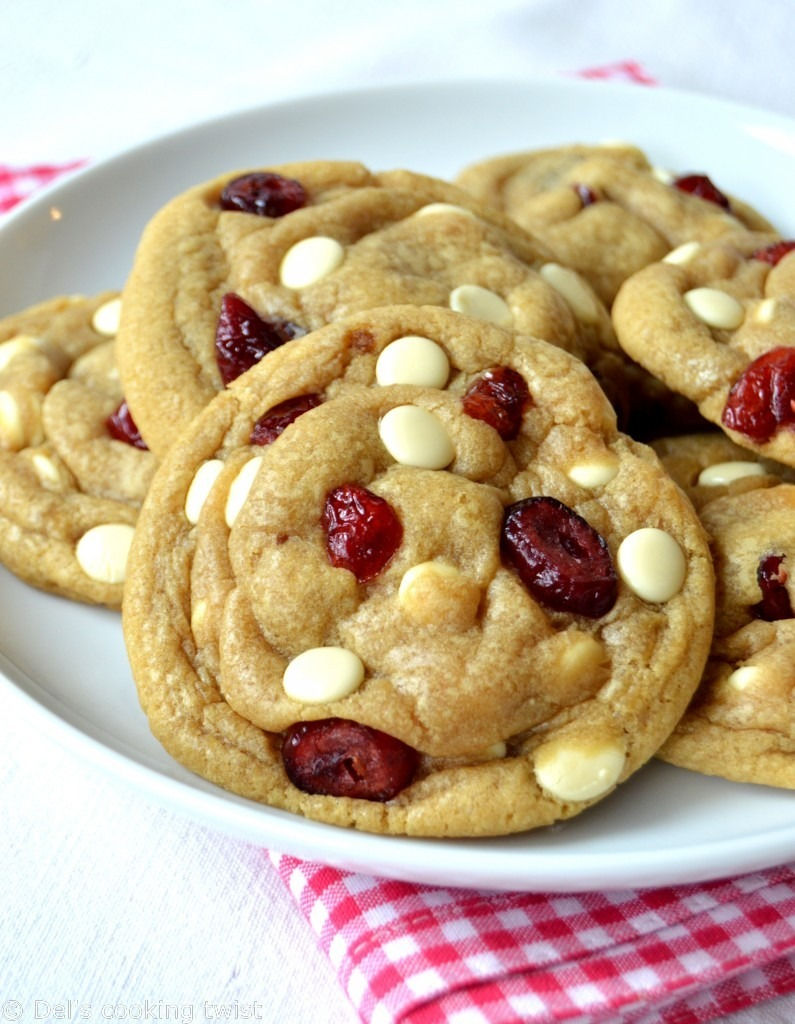 The Best White Chocolate & Cranberry Cookies — Del's Cooking Twist