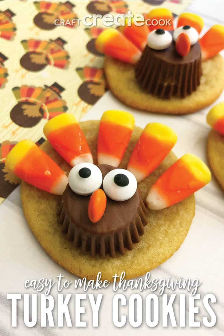 Easy To Make Thanksgiving Turkey Cookies